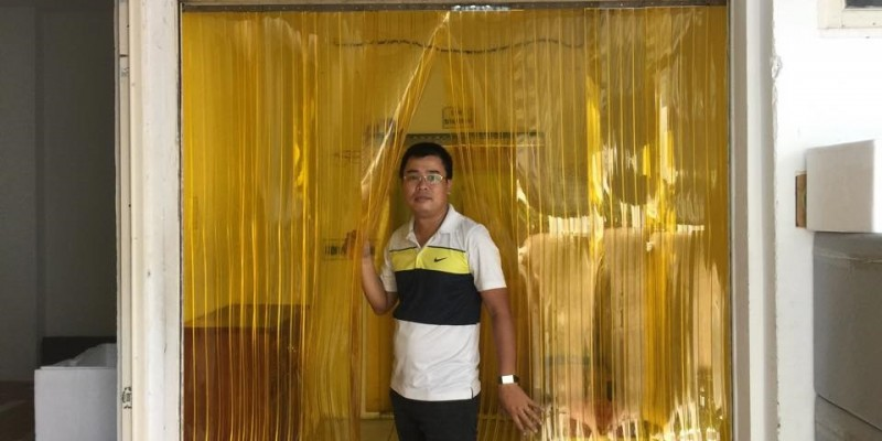 Màn nhựa PVC gân sóng đôi