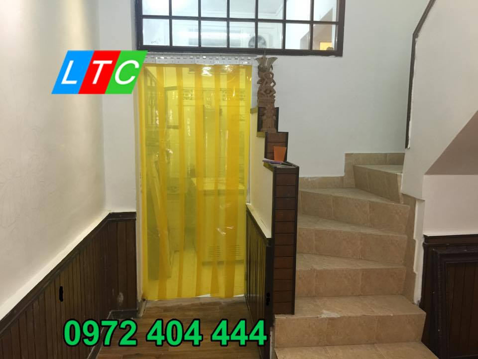 Màn nhựa PVC ngăn lạnh phòng điều hòa