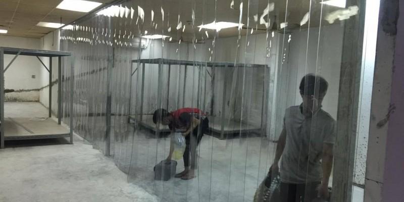 Rèm nhựa PVC làm vách ngăn nhà kho