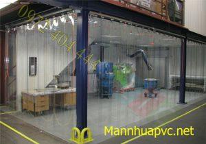 Lắp vách ngăn màn nhựa PVC