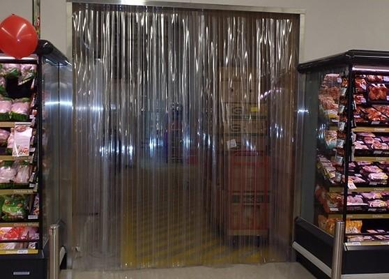 Rèm nhựa PVC làm vách ngăn khu vực trong siêu thị