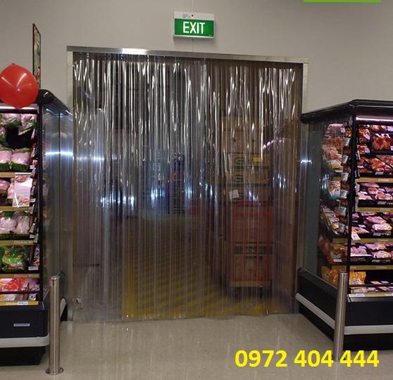 Màn nhựa PVC ngăn lạnh cho siêu thị