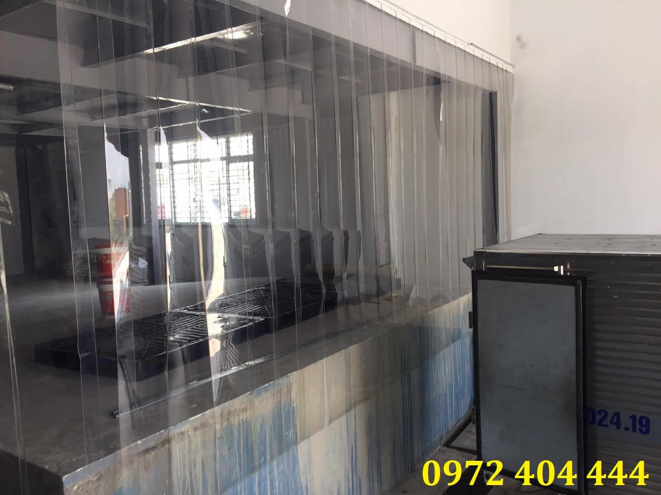 Vách ngăn màn nhựa PVC   khi hoàn thiện