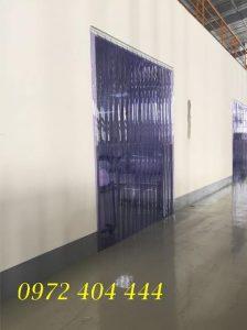 Rèm nhựa PVC ngăn khu vực sử dụng điều hòa